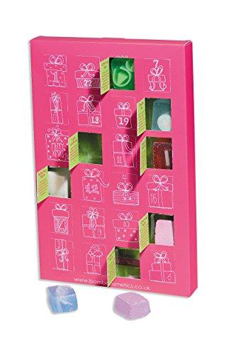 Calendario de Adviento Rosa Bola de Baño Jabón Navidad calendario de Adviento X-Mas–Bomb Cosmetics