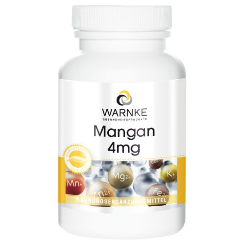 Mangan 4mg - Mangangluconat Kapseln - vegan & hochdosiert - 90 Kapseln