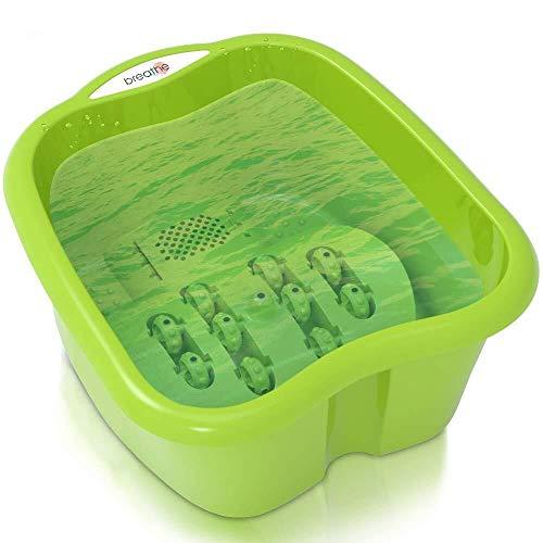 Breathe Foot Soaking Bath Basin   Pedicure Foot Spa Massager   Plastic Foot Tub for Soaking Feet   Cold & Hot Water Foot Massaging Bucket for Women