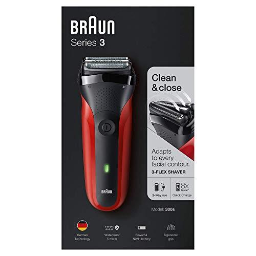 Braun 300S - Rasoio elettrico, batteria