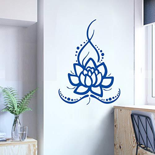 Jingya Lotus Yoga Aufkleber Gesundheit Museum Teestube Hintergrund Wanddekoration Wandaufkleber Wasserdicht Sonnenglas Tür und Fenster Aufkleber 58x80 cm