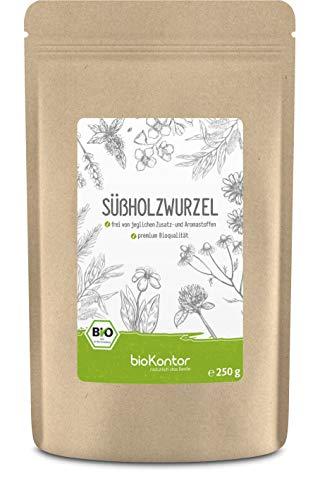 BIO Süßholzwurzel 250 g - im Grobschnitt zerkleinert und getrocknet - Süßholzwurzeltee - Lakritz Tee - 100% natürlich ohne Zusatzstoffe von bioKontor