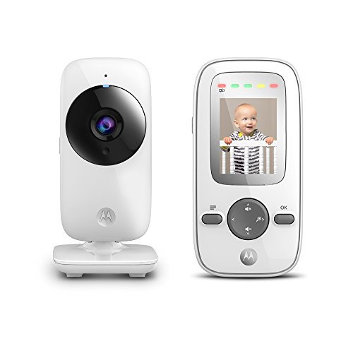 Motorola MBP481 2.4 GHz Digital Video Baby Monitor with 2-Inch Color Display, Digital Zoom, and Infrared Night Vision