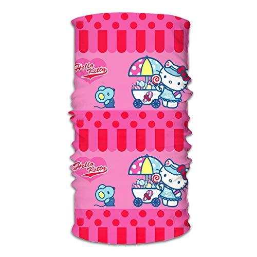 Multifunctional Headwear - Hello Kitty Baby Shower Face Mouth Cover Headband Bandana Neck Gaiter Balaclava for Outdoor White