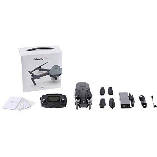 DJI - Mavic Pro - Quadcopter Drone con fotocamera, Video 4K Ultra HD, Grigio