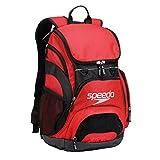 Speedo Printed Teamster 35L Backpack, Red/Black, 1SZ