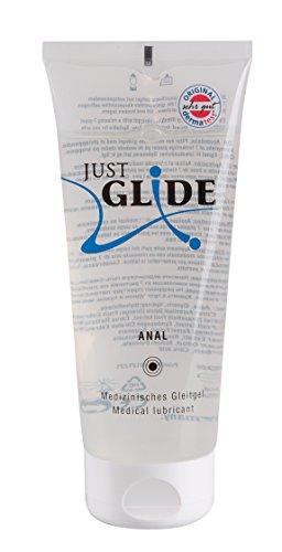 Just Glide Anal Gleitgel 200 ml - Natürliches Gleitmittel auf Wasserbasis für sie und ihn, Gleitcreme für Analverkehr, 100{2c66301864406ef048bb8ce69ce1db39fc5761c98b291405b65803b9c6f5d870} vegan