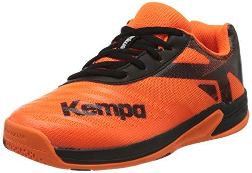 Kempa Unisex Kinder Wing 2.0 JUNIOR Sneaker, Fluo orange/schwarz, 39 EU