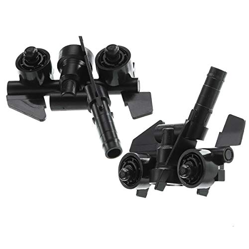 Set of 2 Driver and Passenger Side Headlight Washer Nozzles Compatible with BMW E46 323i 325i 325Ci 330Ci 330xi M3