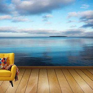 Avikalp Exclusive Awi7712 Sea Evening Island Twilight Landscape Calm Blue HD Wallpaper(518cm x 304cm)