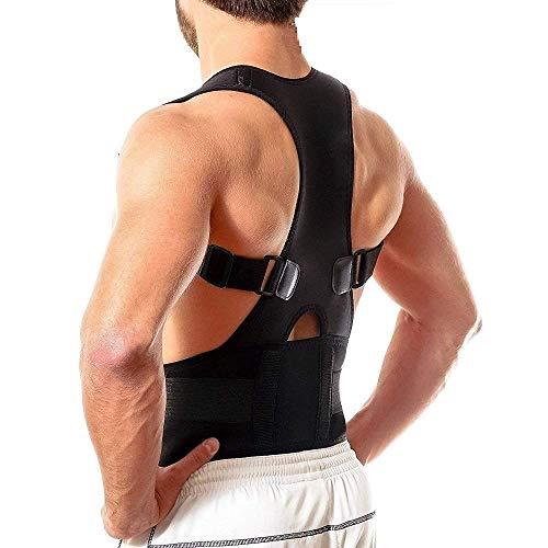 Luhi Unisex Magnetic Back Brace Posture Corrector Therapy Shoulder Belt for Lower and Upper Back...