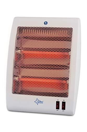 SUNTEC Quarz-Heizstrahler Heat Ray 800 Desktop [Für Räume bis 45 m³ (~19 m²) geeignet, 2 Heizstufen, 800 Watt]