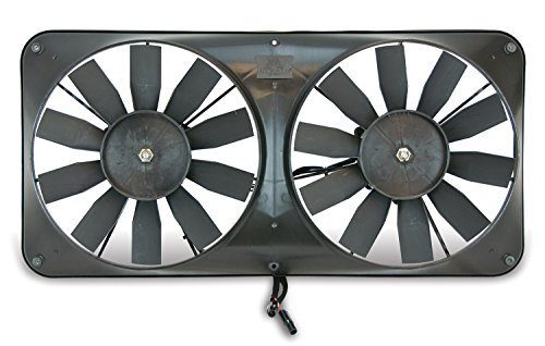 Flex-a-lite 330 Compact Black 11' Dual Electric Engine Cooling Reversible Fan Kit