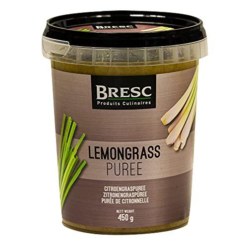 Bresc Zitronengraspüree - 1x 450g - vegane pikante Gewürzmischung Zitronengras-Püree, küchenfertig, authentisch asiatisch, zum Würzen von Speisen, kräftiger Geschmack exotisch frisch zitronig