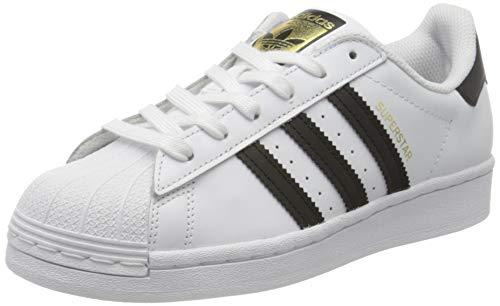 adidas Superstar J, Scarpe da Ginnastica Unisex-Bambini, Ftwr White/Core Black/Ftwr White, 36 2/3 EU