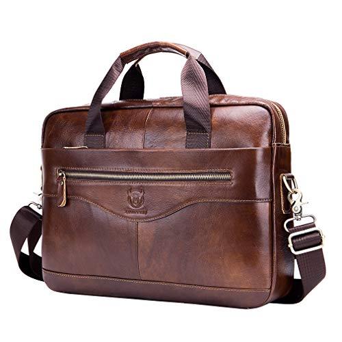 Xieben Vintage Leder Schultertasche Messenger Bag für Herren Frauen Hangbag Reisen Outdoor Business Büro Schule Fanny Pack Geldbörse Gürtel Umhängetasche Umhängetasche Braun