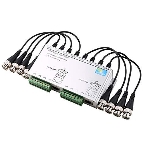 Uhppote 8CH HD Cvi/TVI/AHD Traformatore video passivo sbloccato cavo BNC maschio a UTP cavo per sistema circuiti chiusi