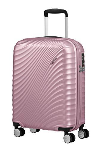 American Tourister Jetglam - Spinner S Bagaglio a Mano, 55 cm, 35.5 litri, Rosa (Metallic Pink)
