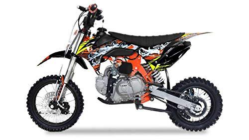 Pitbike Motocicletta da Motocross Lem Motor CRZ 110cc Sport 14/12 Nera