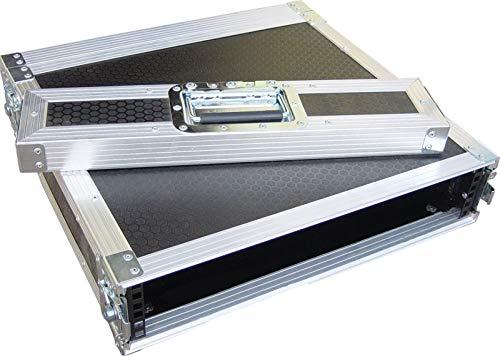 """2U 2 Door 19"""" Rack Mount PC Amp Swan Flight Case 300mm Sleeve (Hex)"""