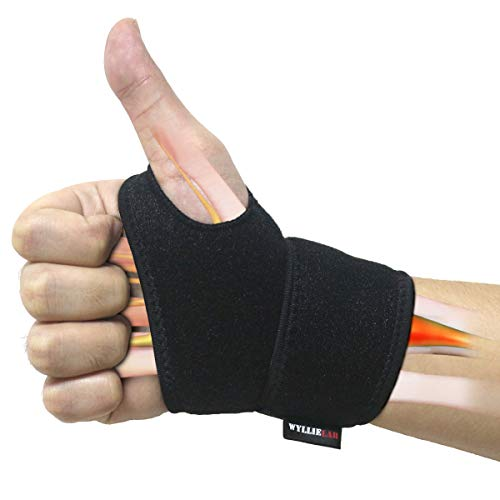 Wrist Brace for Carpal Tunnel, Comfortable and Adjustable Wrist Support Brace for Arthritis and Tendinitis, Wrist Compression Wrap with Pain Relief, Fit for Both Left Hand and Right Hand  Single