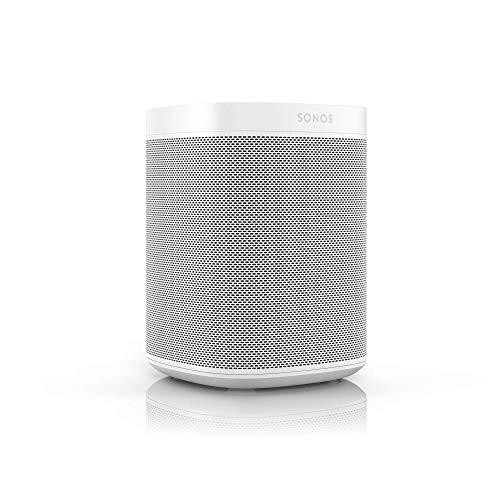 Sonos One Generazione 2 Smart Speaker Altoparlante Wi-Fi Intelligente, con Alexa integrata, AirPlay e Google Assistant, Bianco