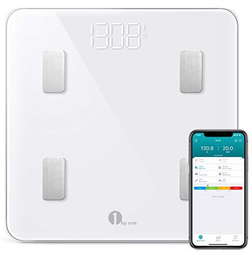1 BY ONE Wireless Smart Scale, Báscula Corporal Digital inalámbrica...