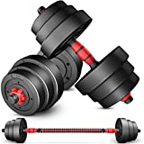 TANPAUL Dumbells Weights Dumbbells Set Adjustable Weight to 44Lbs, Barbell Set for Men and Women Home, Office, Gym Work Out Exercise Training with Connecting Rod Used as Barbells Fitness Weight Set