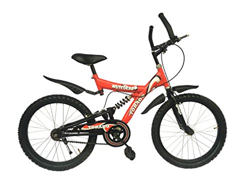 Torado Muscular 20 inches Steel Body Bicycle for Children(Boys/Girls) - Red
