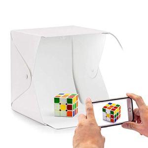 HIFFIN® Foldable Lightbox 23 cm Portable...