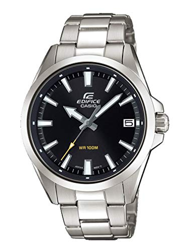 Casio Edifice Herren Massives Edelstahlgehäuse und Edelstahlarmband Uhrenarmband EFV-100D-1AVUEF