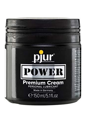 pjur POWER Premium Cream - Fisting Gleitgel mit cremiger Formulierung für extra starken Sex - auch für große Toys & Dildos geeignet - 1er Pack (1 x 150 ml)