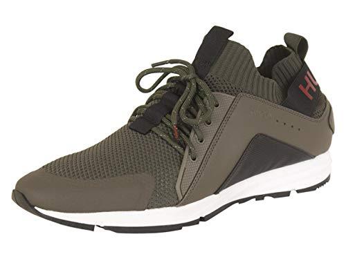 Hugo Boss Men's Hybrid Dark Green Sneakers Shoes Sz: 11