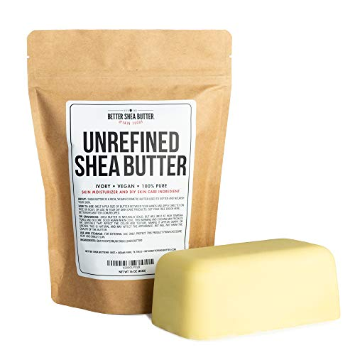 Unrefined African Shea Butter - Ivory, 100% Pure &...