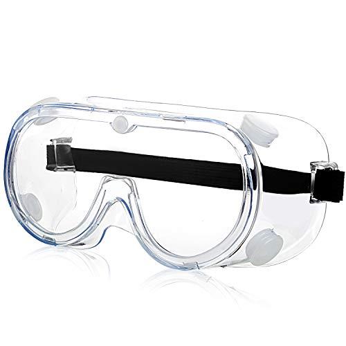 Schutzbrille - Arbeitsschutzbrille Antibeschlag Antispeichel Augenschutzbrille Vollsichtbrille Schutzbrille für Brillenträger Transparent