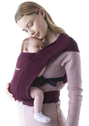 Ergobaby Embrace Marsupio Neonati Ergonomico 0 Mesi, Porta Bebe Extra Morbido ed Ultraleggero (Burgundy)