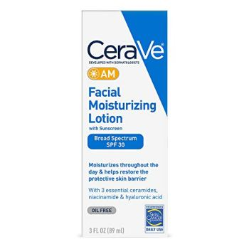 CeraVe Facial Moisturizing Lotion AM SPF 30   3 Ounce   Daily Face Moisturizer with SPF   Fragrance Free
