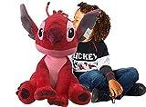 PTS-Stitch Rojo Peluche 70 cm (Leroy) – Lilo & Stitch Original Disney, (260004512)