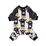Fitwarm Lama Pet Clothes for Dog Pajamas Cat Onesies Lightweight Velvet Black Medium