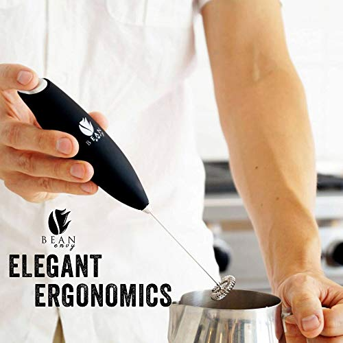 Product Image 4: Bean Envy Milk Frother Handheld - Perfect For The Best Latte - Whip Foamer - Includes <a href=