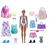 Barbie- Ultimate Color Reveal Bambola con 25 Sorprese, 2 Cuccioli, 15 Sacchettini con Abiti e Accessori, Modelli Assortiti, Giocattolo per Bambini 3+Anni, GPD57