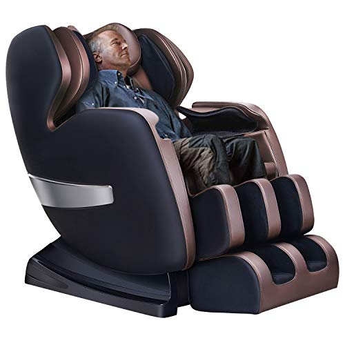 Massage Chair by KTN, Zero Gravity Massage Chair, Shiatsu Massage Chair with S-Track, 3D Massage Chairs Full Body and Recliner with Heat,Vibrating & Foot Roller (Black&Brown)