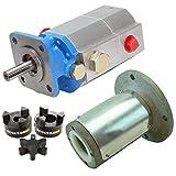 RuggedMade Hydraulic Log Splitter Build Kit - 16 GPM Pump, Engine Mounting Bracket, Coupler for 1' Engine Shaft