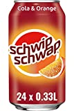 Schwip Schwap, Das Original – Koffeinhaltiges Cola-Erfrischungsgetränk mit Orange, EINWEG Dose (24 x 330 ml)