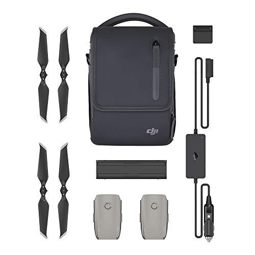 DJI Mavic 2 Pro/Mavic 2 Zoom Fly More Kit, Include 2 Intelligent Flight Battery, 1 Caricabatterie Multiplo, 1 Caricabatterie da Auto, Eliche Low-Noise e 1 Borsetta da Trasporto
