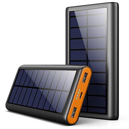 AOPAWA Chargeur Solaire 26800mAh Batterie Externe Portable, [Version écologique] Power Bank Solaire...