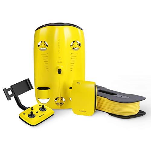 Underwater Drone Robotic 4K HD Submarine Camera 100 Misura la profondit del Cavo in Miniatura Diving Drone nuotano apparecchiatura per la visualizzazione in Tempo Reale/Streaming,50 m
