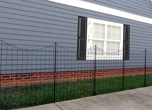 Zippity Outdoor Products WF29002 Garden Metal Fence 42' 1 Box (5...