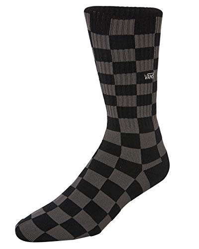 Vans Checkerboard Crew Black/Charcoal Socks Dimensione L/XL