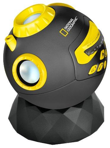 National Geographic Astro Planetarium Multimedia mit Lautsprecher für den Anschluss eines MP3-Player oder das Smartphone, inklusive FM Radio mit Tages- & Uhrzeitgenauer Abbildung des Sternenhimmel